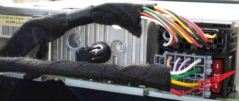 Anschlüsse Autoradio -